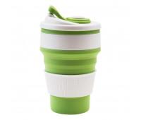 Чашка складна силіконова Collapsible 5332 350мл, зелена