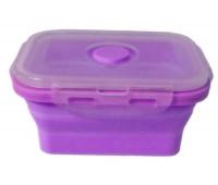 Контейнер харчової силіконовий Stenson MH-3392 350мл, фіолетовий