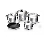Набір посуду з нержавіючої сталі Blaumann BL-3161 9 предметів