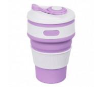 Чашка складна силіконова Collapsible 5332 350мл, фіолетова