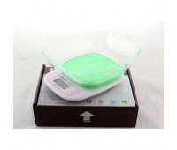 Ваги кухонні Domotec ACS SH-125 до 7 кг з чашею і підсвічуванням, Зелені