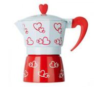 Гейзерна кавоварка 3 чашки Hearts R16593