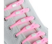 Силіконові шнурки Dawdler Latchet Рожеві для взуття, набір 12 шт