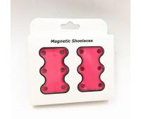Магніти для шнурків Magnetic Shoelaces 42 мм (Магнітні шнурки) рожеві