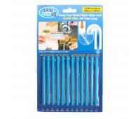 10 наборів паличок для усунення засмічень в трубах Sani Sticks