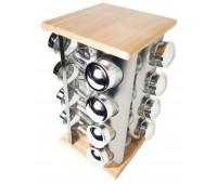 Набір для спецій на підставці Stenson MS-3505, 17 предметів