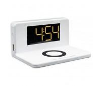 Розумні годинник з LED-підсвічуванням і бездротовою зарядкою SY-W0241, білі
