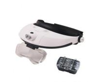 Ювелірні окуляри бінокулярні 5 лінз 1X - 6X з LED підсвічуванням Magnifier 81001-G
