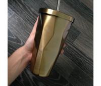 Стакан з кришкою і трубочкою Starbucks Золото