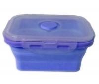 Контейнер харчової силіконовий Stenson MH-3392 350мл, блакитний