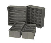 Набір органайзерів для білизни Stenson R29651 4 шт, сірий
