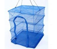 Сітка для сушіння риби 7500, 3 яруси, 50х50х65 см