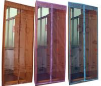 Антимоскітна штора з надрукованим зображенням на комбинированом магніті 100*210 синій