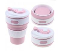 Чашка складна силіконова Collapsible 5332 350мл, рожевий