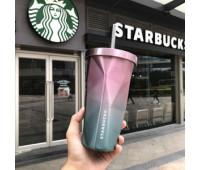 Стакан з кришкою і трубочкою Starbucks color