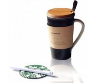 Керамічна чашка з кришкою Starbucks Memo з маркером і ложечкою