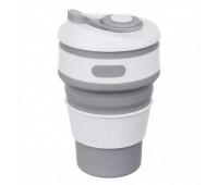 Чашка складна силіконова Collapsible 5332 350мл, сіра