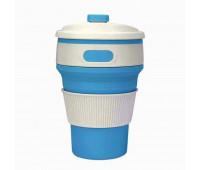 Чашка складна силіконова Collapsible 5332 350мл, блакитний