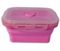 Контейнер харчової силіконовий Stenson MH-3392 350мл, рожевий