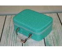 Дорожній швейний набір у валізці Deny бірюзовий